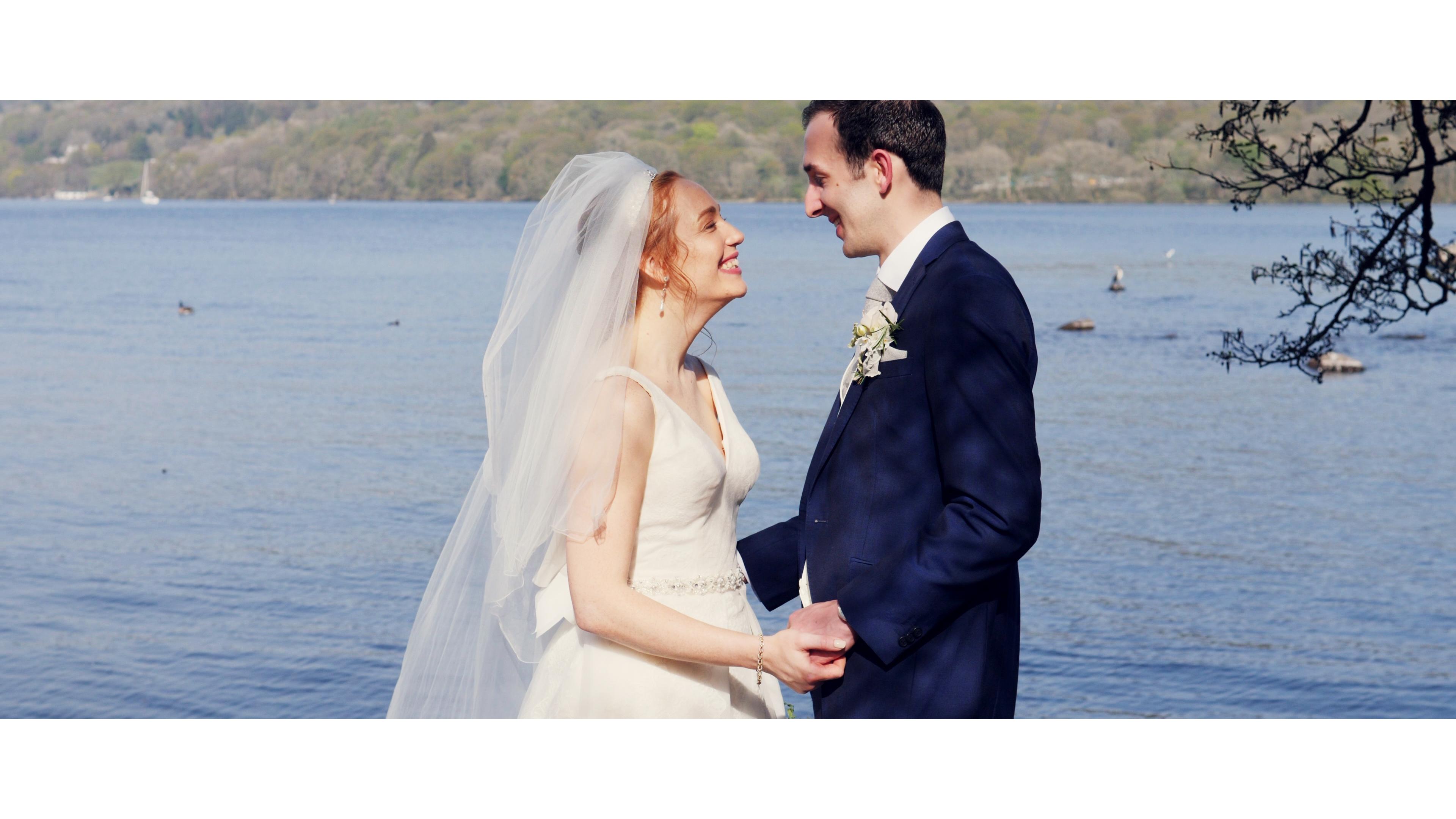 Harry and Katie's Wedding Teaser Fillm at Silverholme Manor, Graythwaite, Lake Windermere